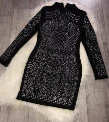 Fekete garbós ruha  ÚJ