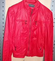 Piros bőrkabát