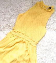 ZARA új sárga tüllruha