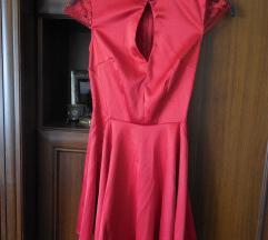 Keleties piros alkalmi ruha, menyecskeruha
