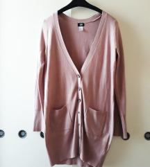 H&M halvány rózsaszín hosszított kardigán