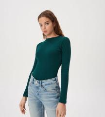Sinsay smaragdzöld garbós felső