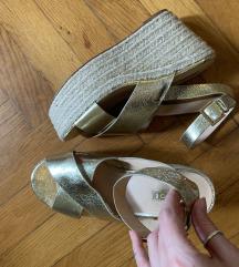 Office Shoes Valódi Bőr Arany Szandál