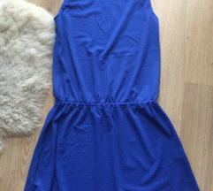 Kék könnyed anyagú lenge olasz ruha, strandruha