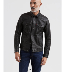 Levi's Buffalo Leather Trucker Jacket
