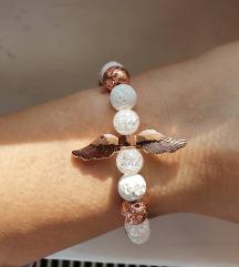 Rosegold angyalkás karkötő