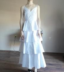 Fodros fehér ruha Timiami