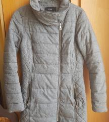 F&F szürke cirmos átmeneti kabát S/M