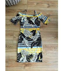 H&M színes-leveles ruha