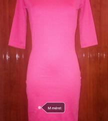 Új rózsaszín midi ruha M