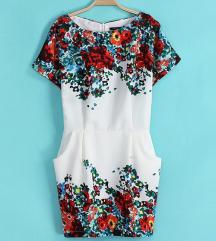 Horient Knitting virágos ruha XS/S