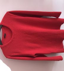 Stradivarius piros pulcsi/pulóver