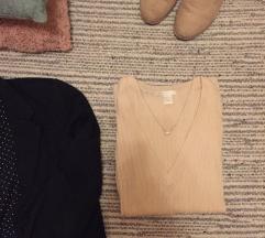 Púderrózsaszín vékony pulcsi