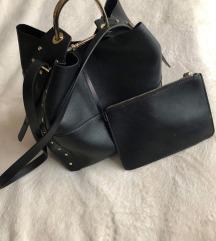 Fekete zara táska
