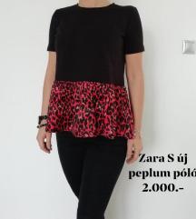 Új ZARA S-es peplum póló