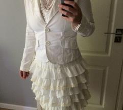 Fehér Zara trf blézer S