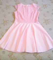 Numoco rózsaszín csipkés alkalmi ruha