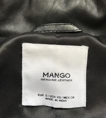 MANGO valódi bőr széles galléros dzseki alkuképes