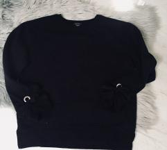 Fekete/ bézs pulóver