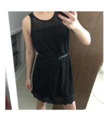 STRADIVARIUS fekete csipke ruha