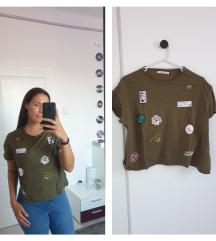 Khaki mintás póló