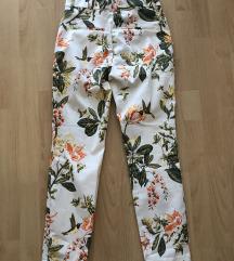 Kolibris-virágos, derekas üzleti nadrág
