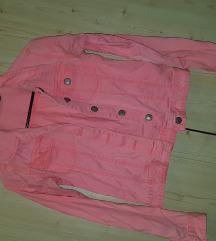 Rózsaszín farmer dzseki