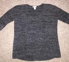 Szürke kötött pulcsi H&M