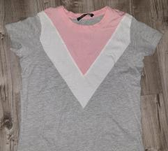 Rózsaszín szürke póló