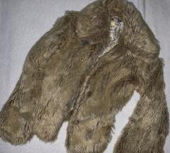 H&M szőrmekabát, műszőrme, téli kabát