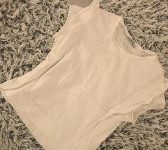 Zara fehér fodros póló
