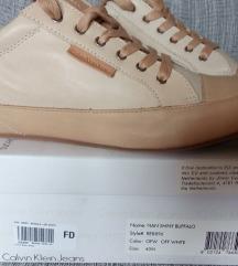 Új, eredeti CK törtfehér/ bézs bőrcipő