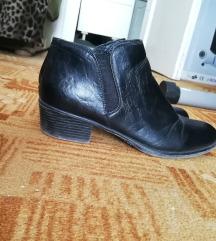 Fekete műbőr cipő