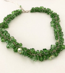‼️SALE‼️ ÚJ zöld nagy üveggyöngyös nyaklánc