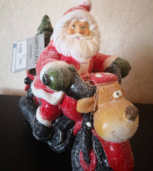 Karácsonyi led-es motoros mikulás dekoráció