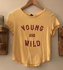 rövidujjú felső H&M divided young & wild sárga