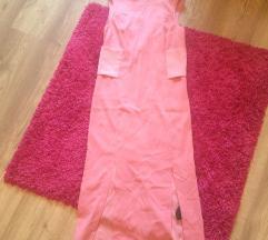 H&M őszi púderrózsaszín ruha XS 34