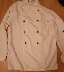Fehér, hosszú ujjú szakácskabát 36/38 méret