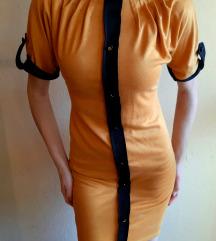 Mustársárga vastag anyagú ruha S/M