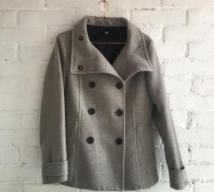 Szürke szövet kabát