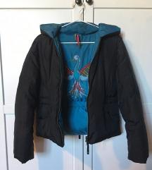 Gas fekete-türkiz női dzseki, kabát EUR S