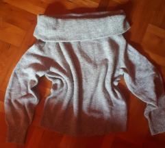H&M off shoulder kötött pulóver