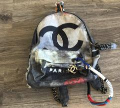 Chanel graffiti backpack