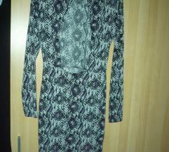H&M szexi hátú leopárd mintás mini ruha 36 új