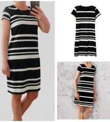 Fekete-fehér csíkos ruha