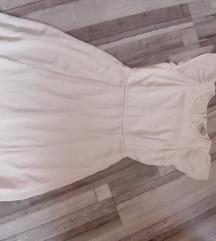 H&M szürkés fehér Fodros ruha