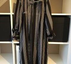 Fekete fehér hosszú csíkos ingruha ruha