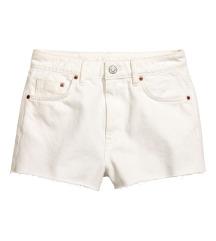 címkés H&M fehér short XS 34