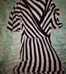 Twist & Tango fekete-fehér csíkos rövid ujjú ruha