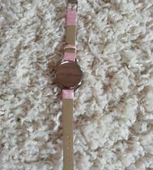 Új gyöngyház rózsaszín óra